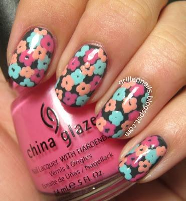 GrilledNails: Nailartfeb 2013 Challenge- Flowers, nails, flowers, cute, nail-art, nail art