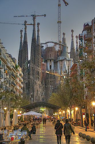 La Sagrada Familia, Barcelona, Spain