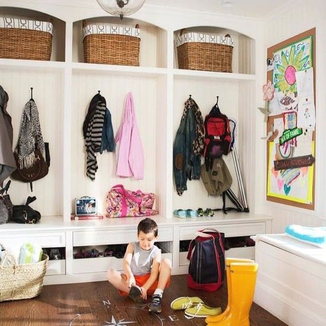 Thinking about our old mud room and how cute my little guy was photo bombing the @hgtv magazine shoot back in 2012-#tbt #interiors #houses #design #interiordesign