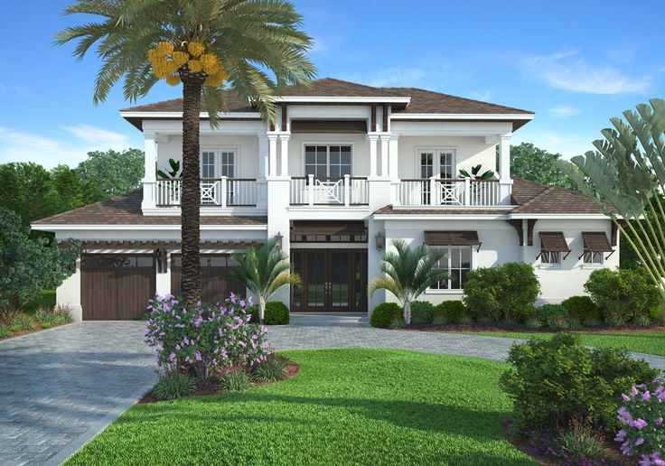 Edgewater 4 bedroom 3 5 baths 2 story 2 car garage for Coastal style house plans