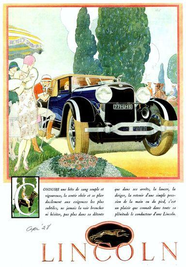 Lincoln Motor Company 1928 Club Roadster F - www.MadMenArt.com | Vintage Cars…