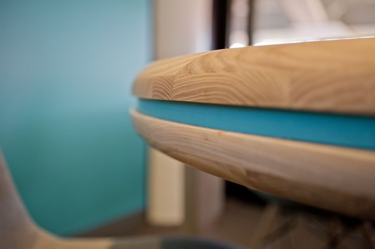 Boardroom table detail at Wembley Stadium - designed and built by Firecracker Works March 2014