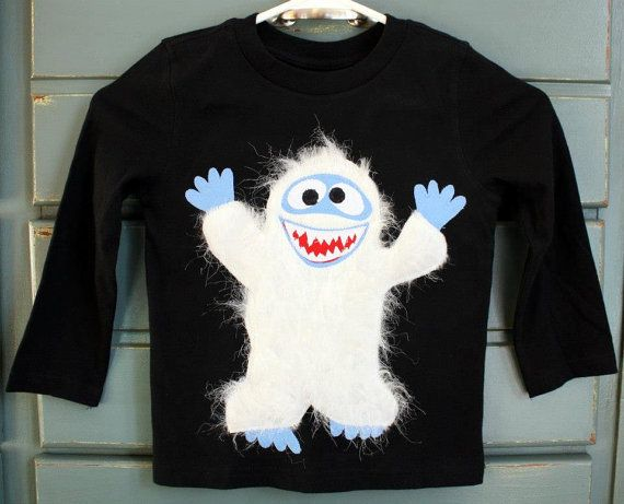 a fun holiday tee featuring the Abominable Snowman