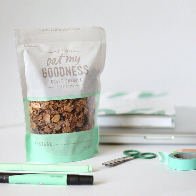 Oat My Goodness - #creativepackaging #granola curated by Copious Bags