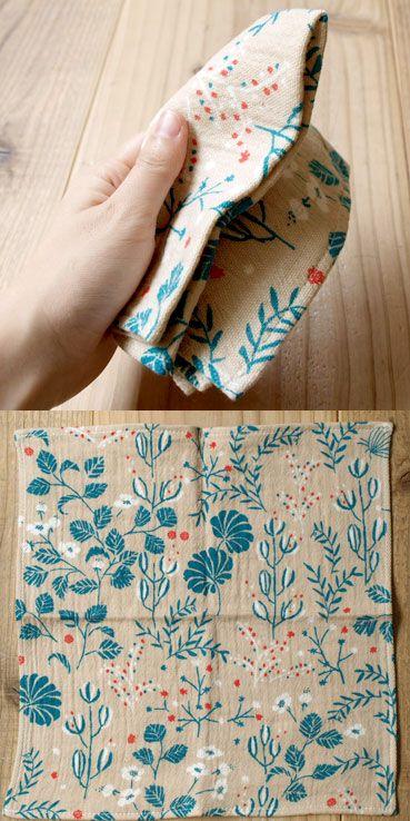 【라쿠텐 시장】 점과 선 모양 제작소 더블 거즈 손수건 - 정적 속 식물 메일 서비스 대상 제품 : slowworks