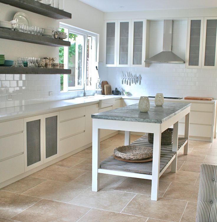 Island Kitchen Bench Designs: Custom Made Kitchen Island Bench With Zinc Style Metal Top