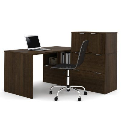 Bestar i3 L-Shaped Desk with Small Hutch - 150863-78, Durable