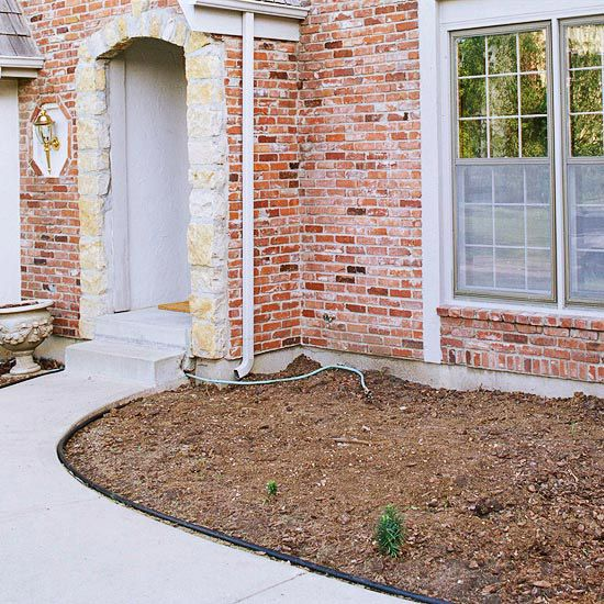 BEFORE: Bare Entryway AFTER: Beautiful Front Entry. Like the idea of year round interest.