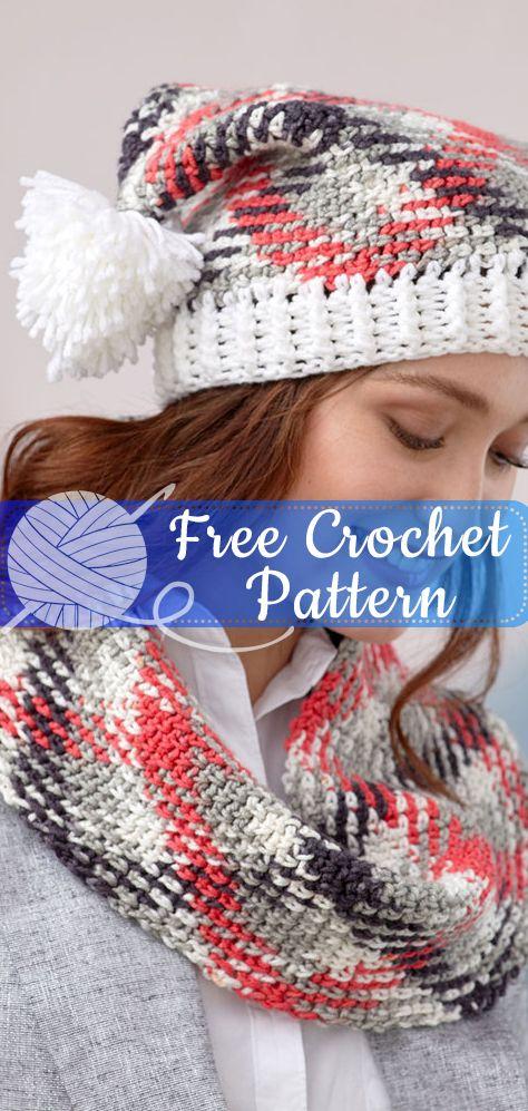 Conjunto de chapéu e capuz de pooling planejados [CROCHET FREE PATTERNS] #freecrochetpatterns #c ...
