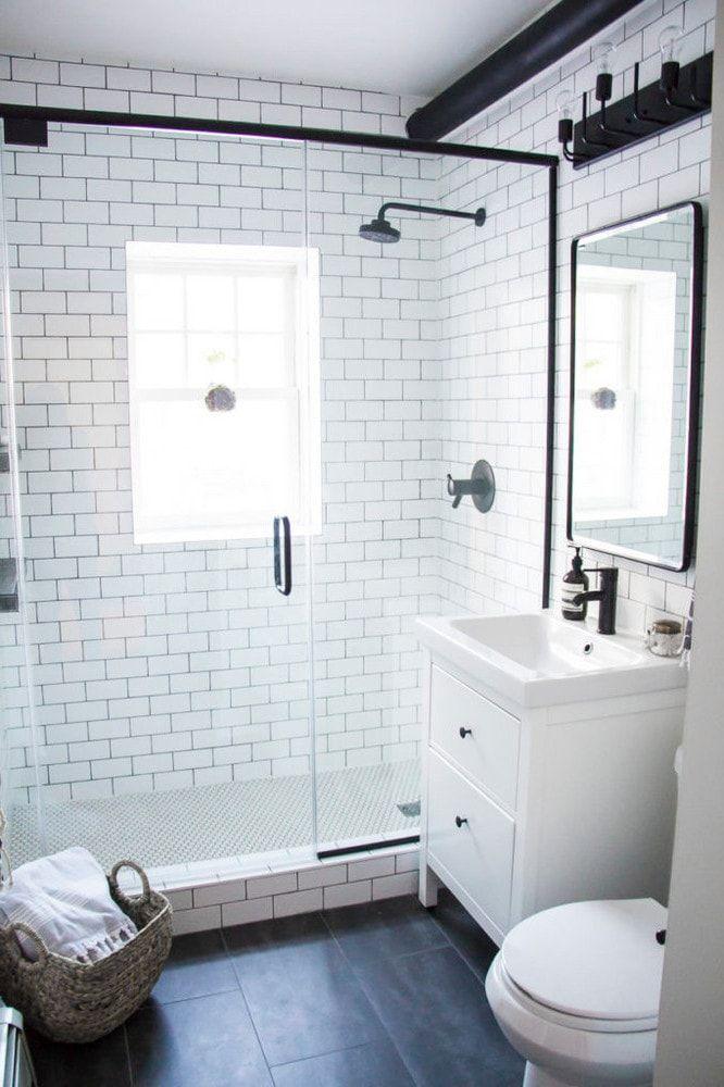 Interior of a modern bathroom with HEMNES More bathroom interiors: https://en.ikea-club.org/category/vannaya-komnata-home.html