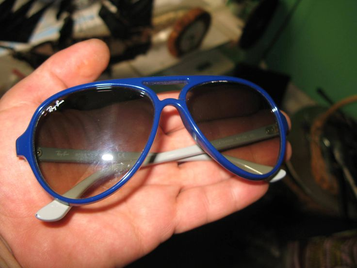 35g RAYBAN SUNGLASSES rare blue RB4125 CATS 5000 801/32 2N made in Italy by spyrinex06 on Etsy