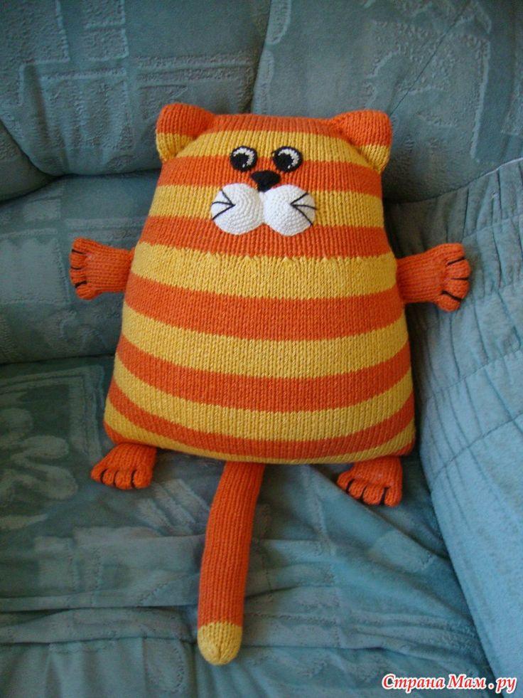 Кот подушка-игрушка - Вязание - Страна Мам