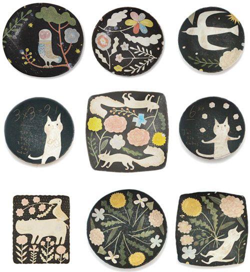 Lovely ceramics by Japanese ceramic artist Makoto Kagoshima .     via