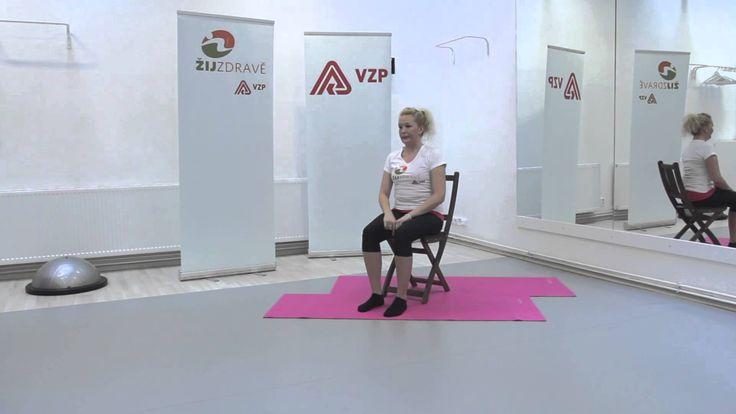 cvičení na židli