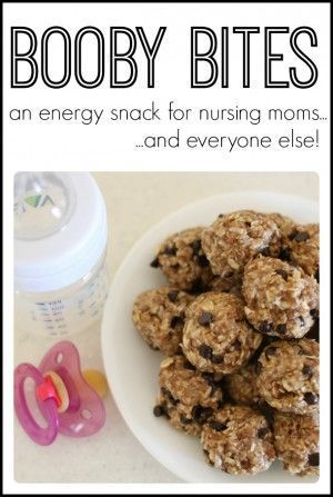 Booby Bites - an energy snack for new moms (and everyone else). Love this recipe for lactation cookies for nursing mothers!