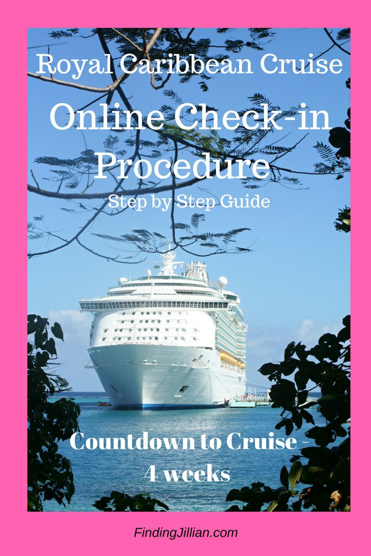 Online Check-in Procedure for Royal Caribbean Cruises