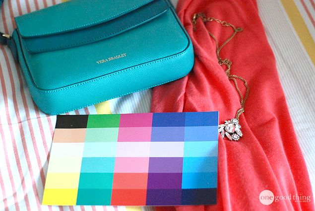 Dear stylist, I love the turquoise and red together. The DYT 1 style guide is with it! These are my colors! Bright tints!