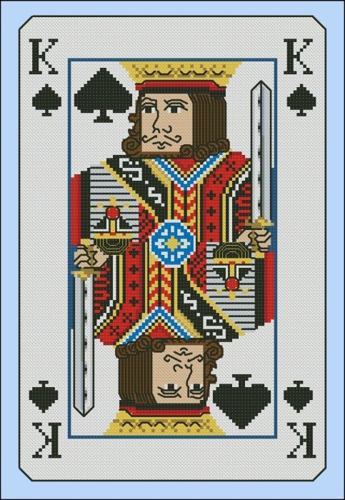 Vintage King of Spades Playing Card | Cross stitch: vintage | Pintere ...
