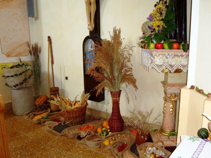 Ďakovanie za úrodu - výzdoba kostola