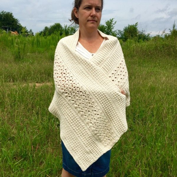 Crochet Pattern For Nursing Shawl : Crochet Pattern - A Mothers Love Shoulder Wrap Warm ...