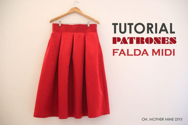 DIY ropa, como hacer tu misma esta falda midi estilo Valentino. La costura es muy sencilla!!!! Los patrones los tenéis disponibles y gratis en el blog. En es...