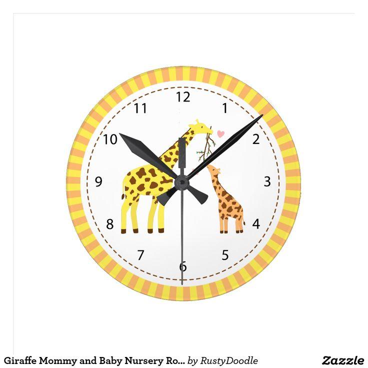 Giraffe Mummy and Baby Nursery Room Decor