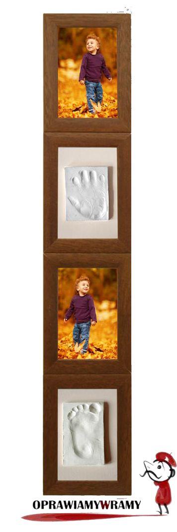 Ramka na dwa zdjęcia w zestawie z masą do odcisków dziecka