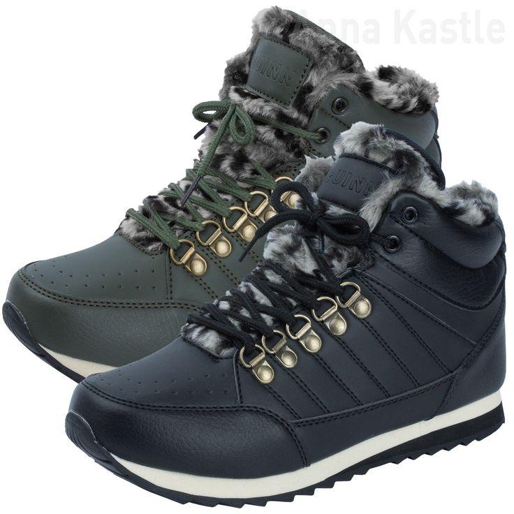 AnnaKastle Womens Leopard Print Faux Fur Trim Hiking Style Sneaker Size 5 6 7 8 | eBay