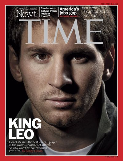 Time Cover about Messi, FC Barcelona player