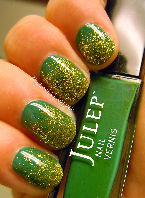 Aly Loves Lacquer: Julep Glitter Pots and a Packer Mani!