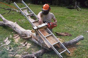 Eddie's ladder chain saw mill