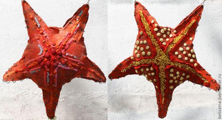 """Купить Сумка """"Морская. Звезда"""" - ярко-красный, звезда, морская тема, морская звезда"""