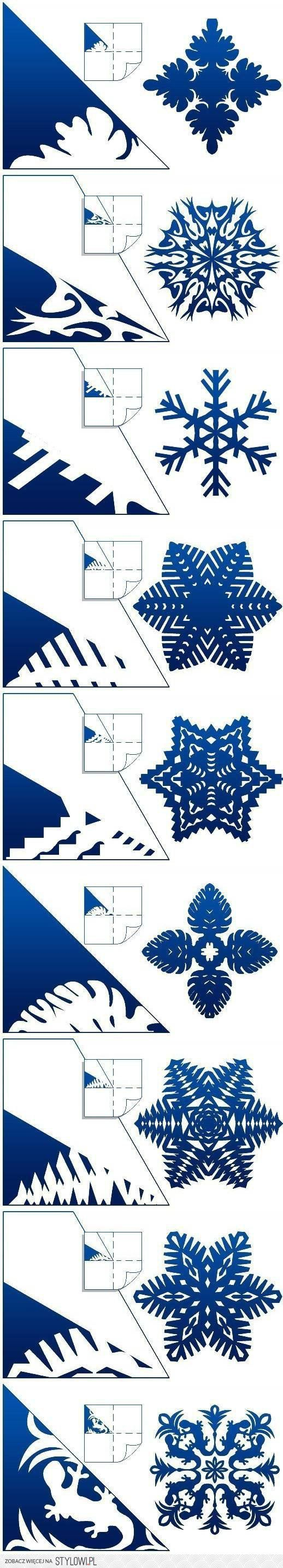 DIY Schemes of Paper Snowflakes DIY Projects | UsefulDI…