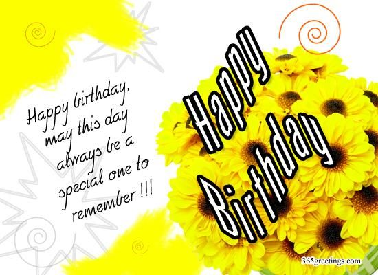 Happy Birthday Wishes Messages and Happy Birthday Greetings - Messages, Wordings and Gift Ideas