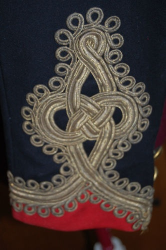 Victorian Royal Artillery Militia Captains Mess Dress ( cuff Detail )