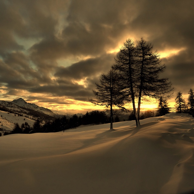Sunset at Sestriere, Italy