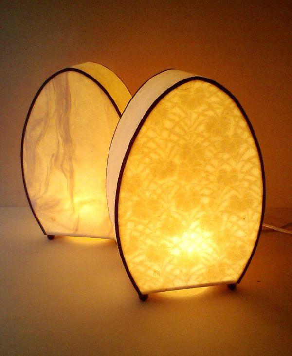 """和紙照明""""朧"""" Japanese washi lamp OBORO oboro means hazy"""