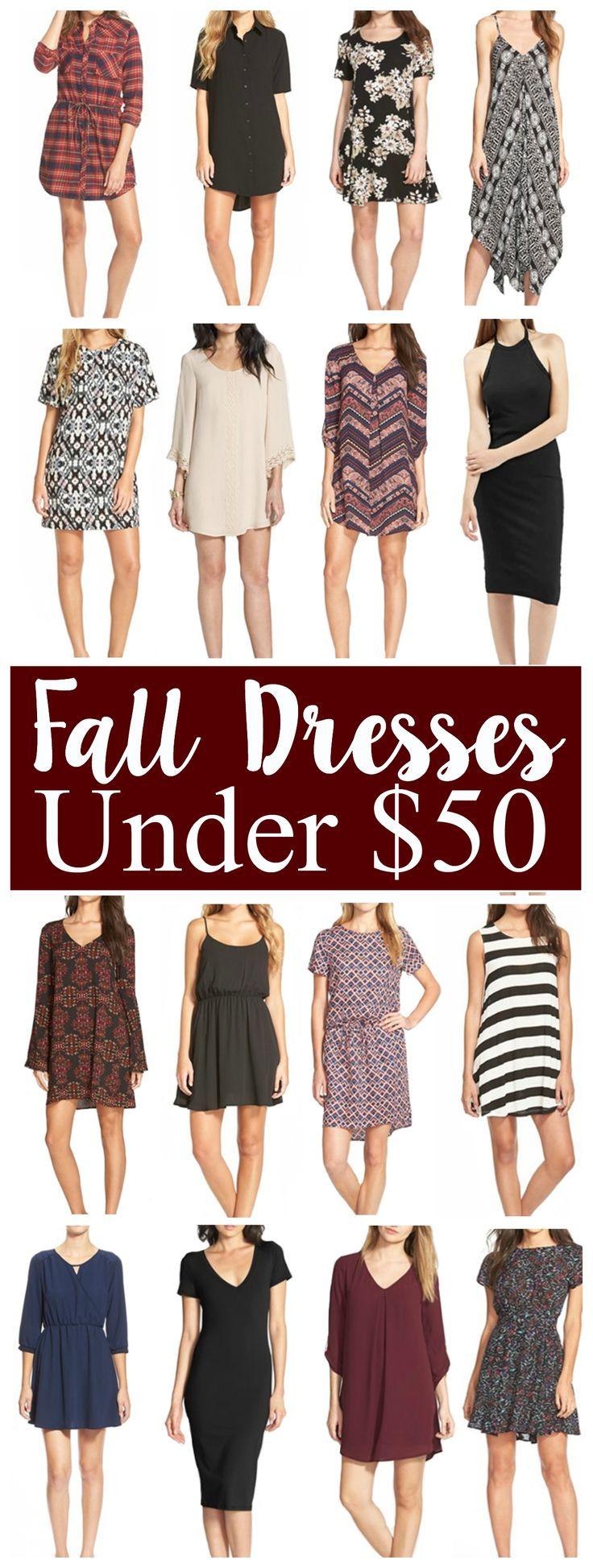 The cutest Fall dresses under $50!