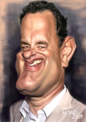 Tom Hanks Artist: Antal Toth.     ***For more great pins go to @KaseyBelleFox