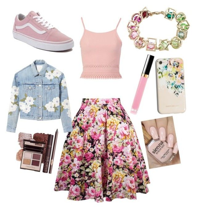 """""""Blush 🌸"""" by sweetmoegee on Polyvore featuring Pilot, Vans, Rebecca Taylor and Karen Millen"""