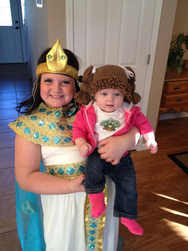 Cleopatra and cabbage patch kid baby halloween costume costumes pinterest babies baby for Cabbage patch costumes