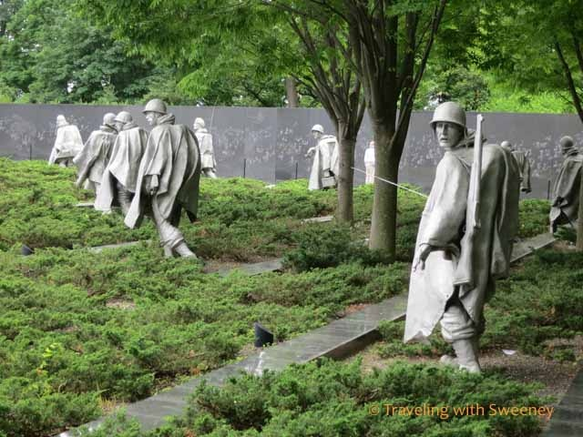 Korean War Veterans Memorial, Washington D.C. / Seems like a place to visit. Unusual and touching memorial.