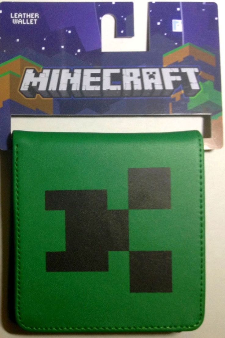 Minecraft Creeper Face Leather Wallet Free Shipping - Love Shopping 188