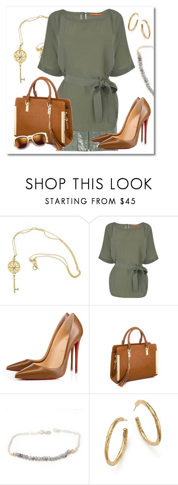 """""""Patent leather mini skirt"""" by nicole-christie-mennen ❤ liked on Polyvore featuring Tiffany & Co., Alexander Wang, BOSS Orange, Christian Louboutin, Wildfox and Ippolita"""