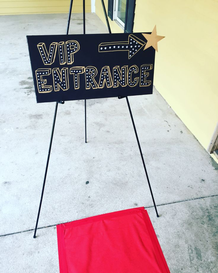 handpainted VIP canvas art for our Hollywood themed school dance! Vip entrance sign!