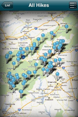 Leave your hiking guidebook at home and carry all the information you need with you on your iphone, including GPS enabled maps and customized directions to the trailhead. Great Hikes of the Southern Appalachians is your one-stop source for the best hiking routes in western North Carolina, Upstate South Carolina, and north Georgia.