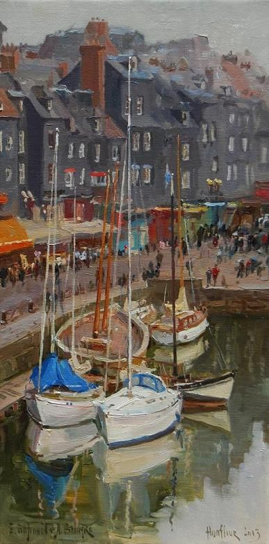 """""""Harbor View, Early Spring"""" 24"""" x 12"""" O/C Available"""