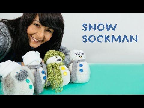 Muñeco de navidad con calcetín - Muy Ingenioso