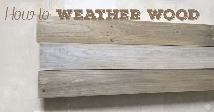 If you wonder how to weather wood yourself you can't miss this post. Take some paint, a container and a rag and enjoy the process.