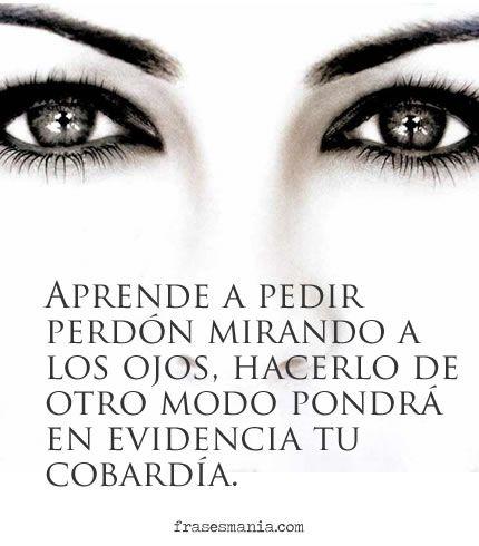 Aprende a pedir perdón mirando a los ojos...